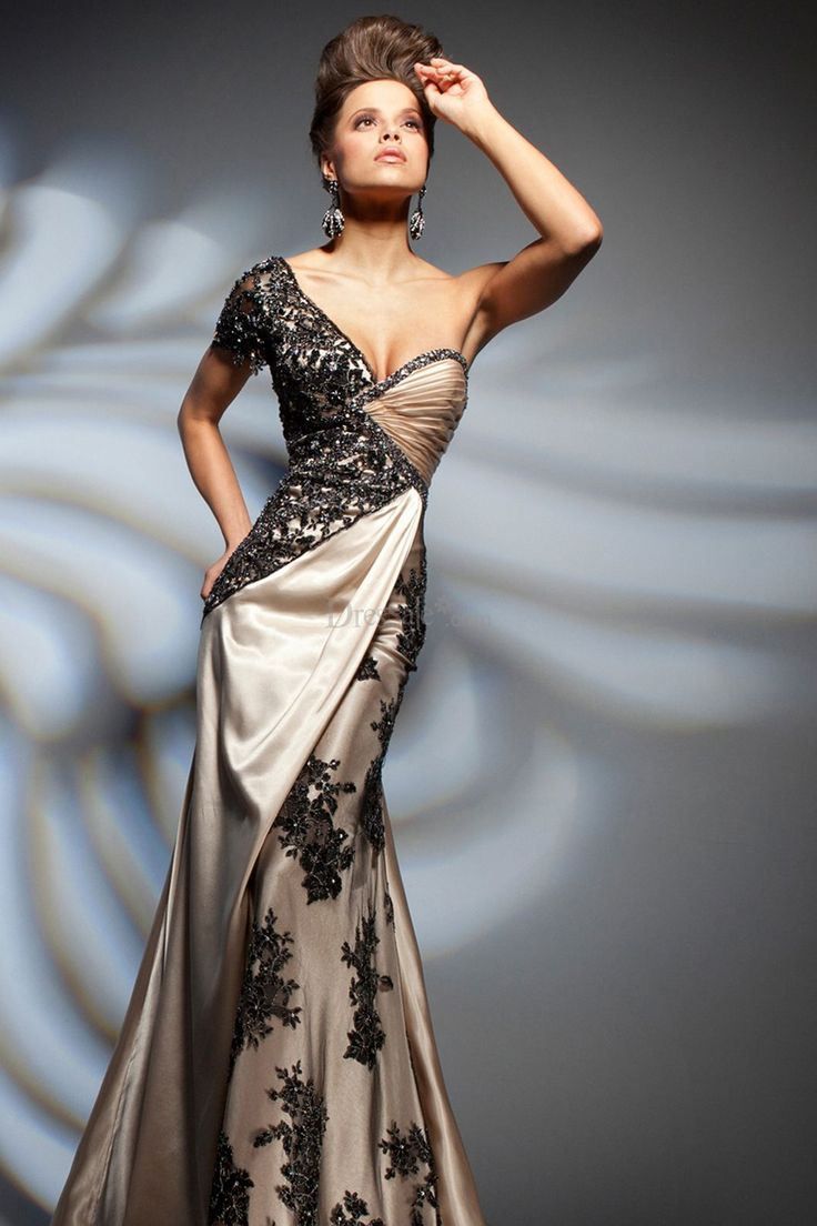 For some drama! Breathtaking Sheath One Shoulder Evening Dress with Ravish Lace, Evening Dresses - dressale.com