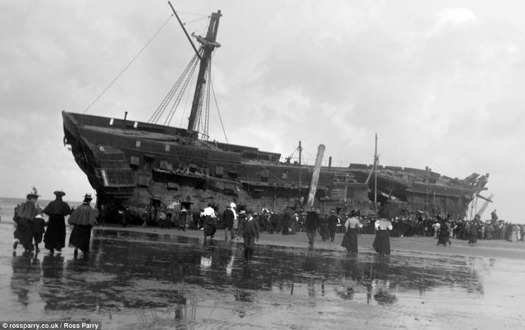 The HMS Foudroyant, an 80-gun third rate of the Royal Navy, ran aground near to the town's North Pier on June 16 1897. Stagecoaches began tr...