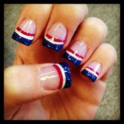 4th of July Acrylic Nails   Simple and FUN!
