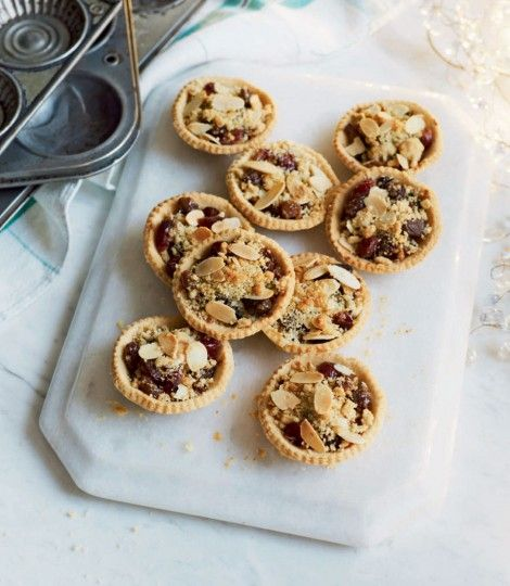 Cranberry, orange and almond mince pies a twist on an old favourite!