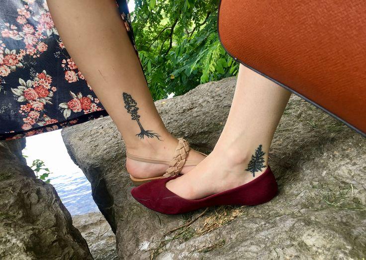 #tattoos #trees #nature #treehugger #bestfriend #bestfriendtattoos #love #evergreen #sequoia