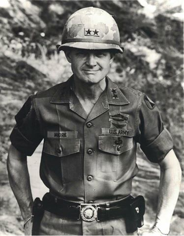 """Task Force Bayonet regrets to inform you that retired Lt. Gen. Harold """"Hal"""" Moore, and former 7th Infantry Division Commander, passed away on February 10, 2017 at his home in Auburn, Alabama. Moore commanded the 7th Infantry Division in Korea from May 1970 to March 1971."""