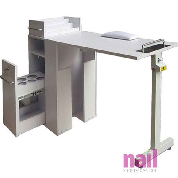 EuroStyle Portable Manicure Table | Foldable Nail Table   White
