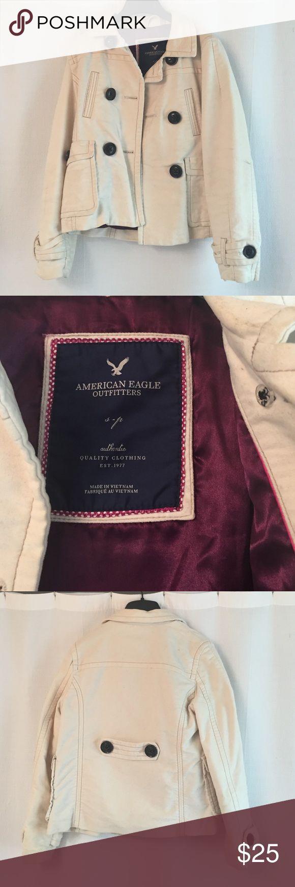 AE pea coat AE off-white pea coat American Eagle Outfitters Jackets & Coats Pea Coats