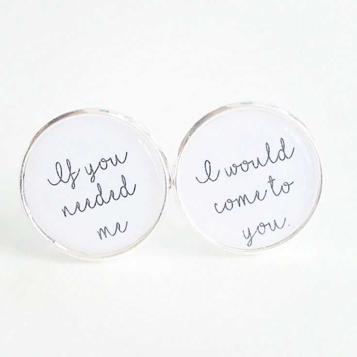 Custom cufflinks for brides gift to groom on their wedding day. Song If you need me, I will come to you #wedding