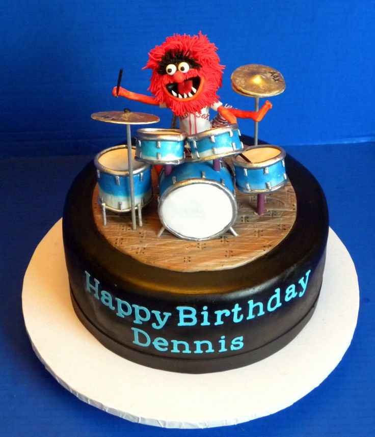 Friday March 21st, 2014 – Michelle – Animal Drum Cake