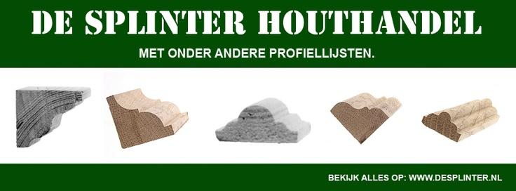 Profiellijsten van De Splinter bv  www.desplinter.nl & www.houtenpanelen.nl