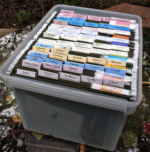 Storage solution for gardening/flower seeds.