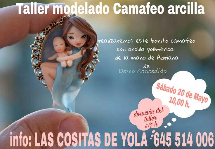 Sábado 20 de Mayo  por la mañana TALLER MODELADO ARCILLA en Las Cositas de Yola Apúntate info: 952 62 36 69 // 645 514 006 e-mail : lascositasdeyola@hotmail.com