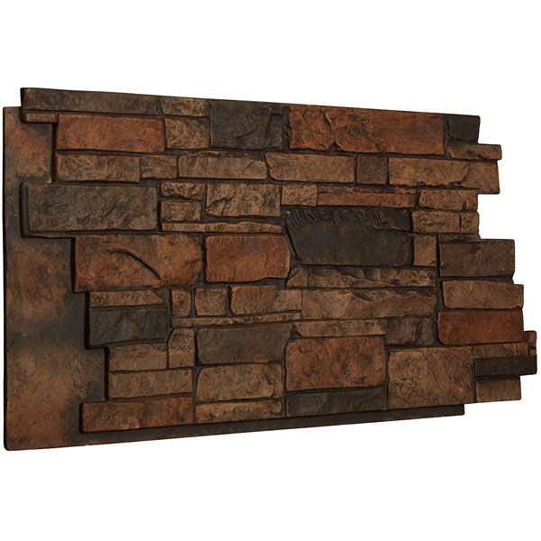 49 Inch W X 25 Inch H X 1 1 4 Inch D Stone Wall Endurathane Faux Siding Panel Java Faux Stone Veneer Faux Stone Faux Stone Siding