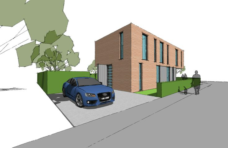 Straatzijde moderne woning