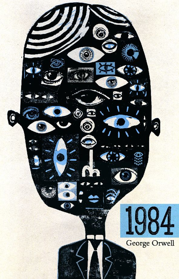 Don't be frightened by the reimagining of the cover of Orwell's classic. Or do. Big Brother is always watching... and updating Facebook's privacy settings when it wants. BEWARE.