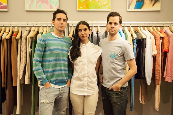 Alex, Sam, and Matt Orley at their CFDA Incubator in the Garment District, New York.