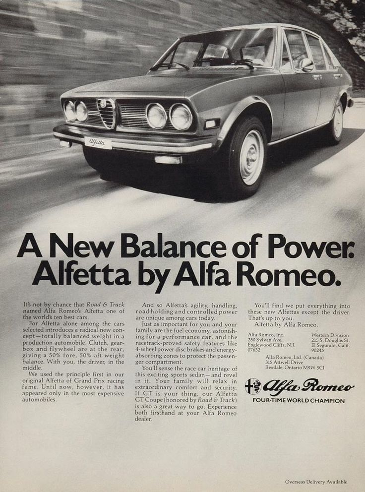 1976 Alfa Romeo Alfetta Sedan Road & Track Print Ad - ORIGINAL ADVERTISING ALFAR