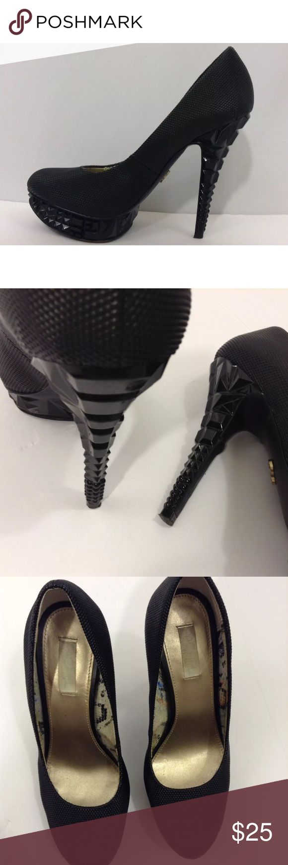 "Rachel Roy Rfkalyssa Black  5"" Platform Heels -6.5 Heel is approximately 5"" Some mild damage ti the heel & some scuffing - pleas see photos Please don't hesitate to ask for more information or photos if needed! Thank you 😊 RACHEL Rachel Roy Shoes Heels"