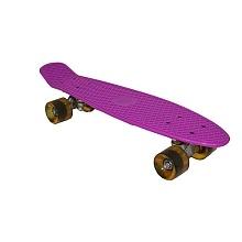 "22"" Fish Skateboard - Purple Deck - White Wheels"