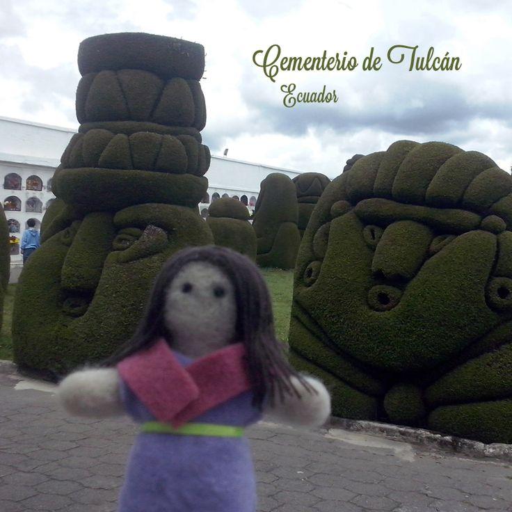 Dulce in Tulcán, Ecuador. Felted doll