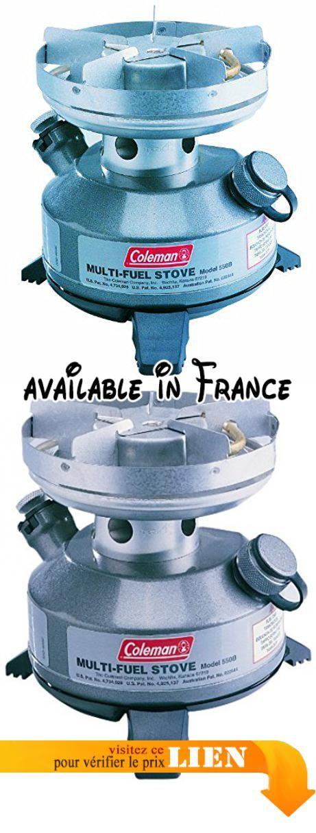 B0018YEGTS : Coleman Multi Fuel Réchaud à essence. Réchaud à essence doté d'un second générateur pour utiliser différents types de carburants. Puissance = 2200W. Fonctionne à l'essence sans plomb ou au fuel liquide Coleman. Pieds escamotables pour une meilleure stabilité. Dimensions : 15 x 13cm. Temps d'ébullition : 3mm 55 / Litre. Capacité du réservoir : 030L. Autonomie : jusqu'à 7Heures