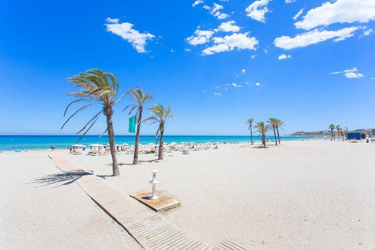 Playa de San Juan, Alicante, Espana, Sunn beach - San Juan Beach, Alicante, Spain, slunečna Pláž San Juan, Alicante, Španělsko