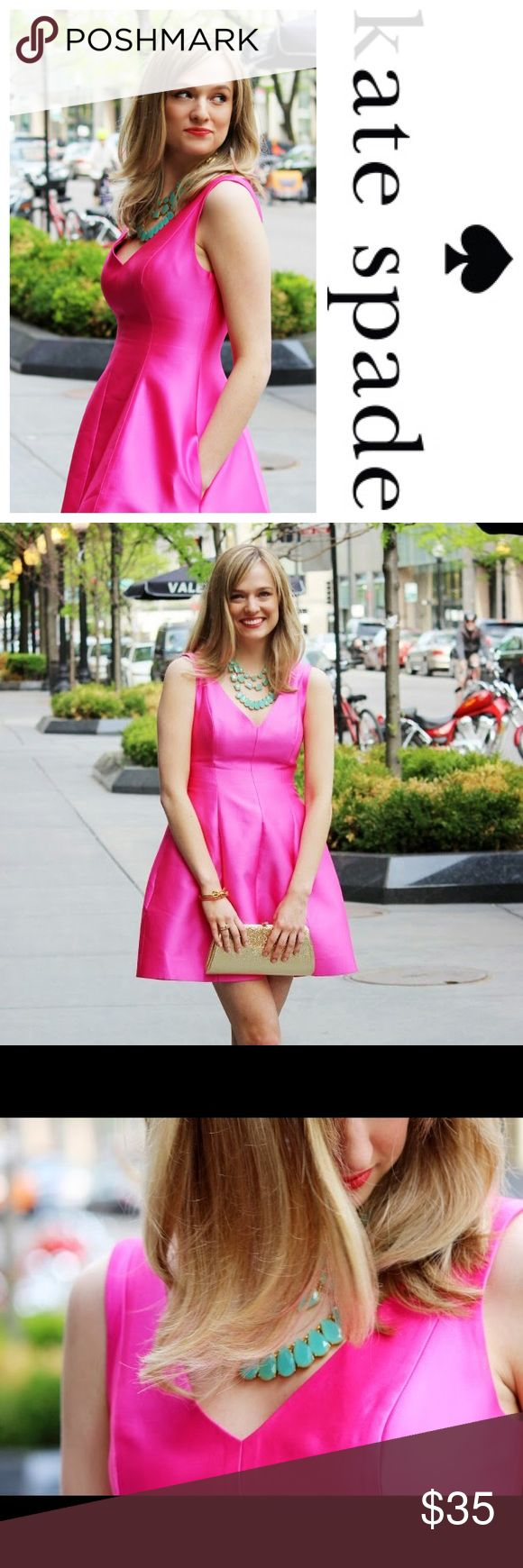 Kate Spade HOT pink mini dress Sexy and elegant dress by Kate Spade. EXCELLENT condition; NO stains, tears, rips, snags. kate spade Dresses Mini