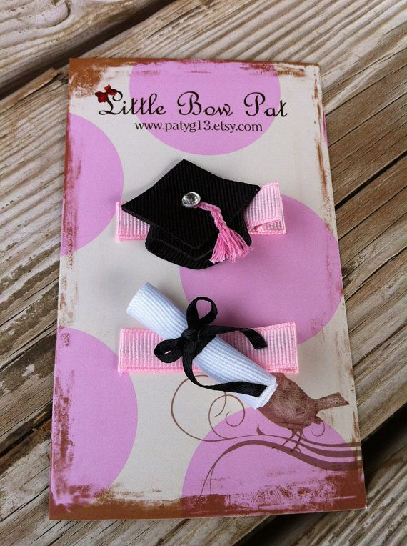 Little Bow Pat on Etsy, cute for Kindergarten graduation.