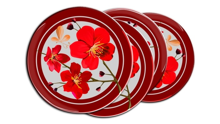 Portion Control Plates - Patterns let you know how much protein, veggies and grains to eat per meal.