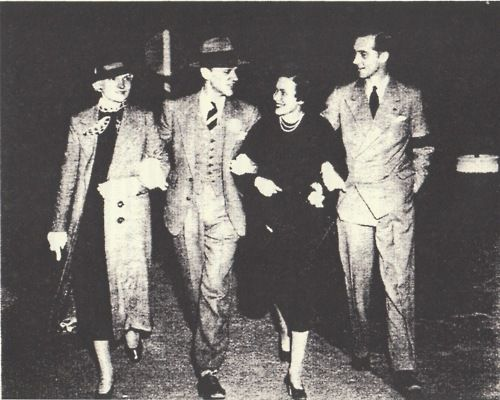 Johanna (Astaire's mother), Fred Astaire, Adele (Astaire's sister), and Lord Cavendish (Adele's husband).