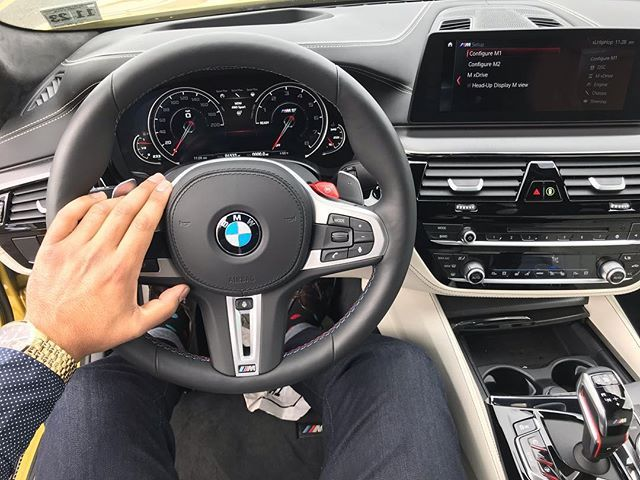 Sometimes Happiness Is Sitting Behind The Wheel Of An M5 Bmw