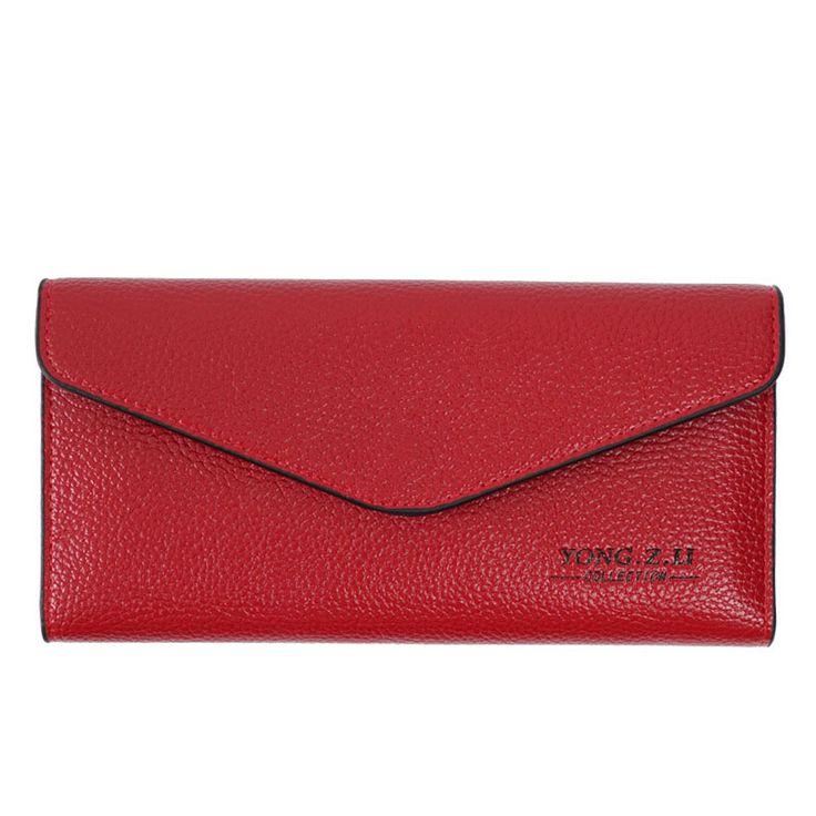Marke Echtes Leder Frauenmappen Lange dünne damen geldbörse Rindsleder Kartenhalter handtasche Mode magische Brieftasche weibliche