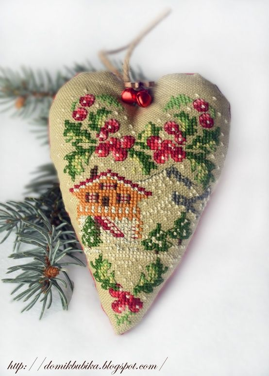 Seasons hearts cross stitch patterns.