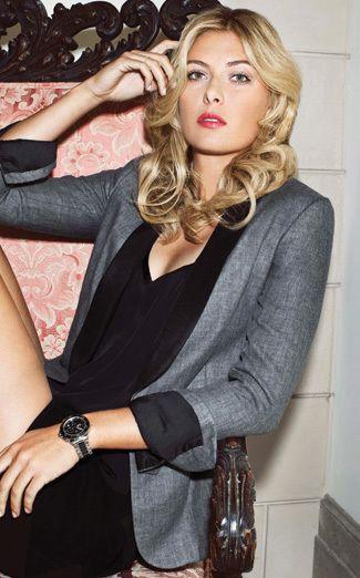 Sexy gray blazer with black dress