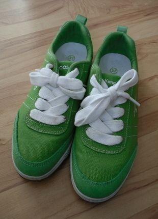 Kangaroos Canvas-Sneaker / grün / Gr. 38