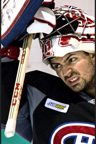 I believe Carey Price is making what Tyra Banks would call the 'Ugly – Pretty' face here.