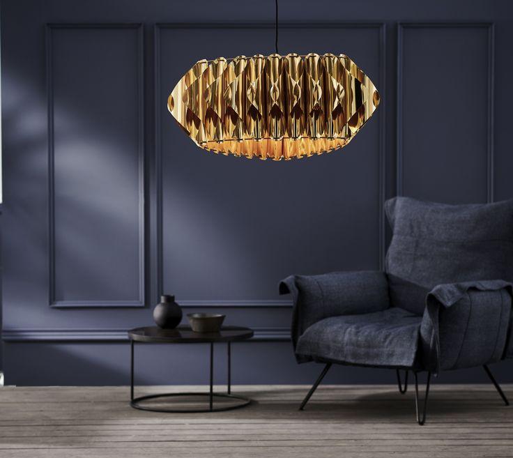 Lampa Noe marki Kaspa. Ta wyjątkowa, olśniewająca lampa przyciągnie wzrok każdego! #lampa #kaspa #lighting # #livingroom #design #polishdesign