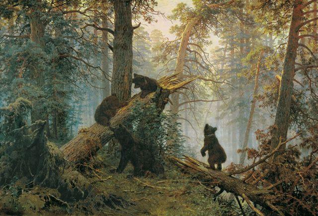 Πρωί στο πευκοδάσος. (1887)