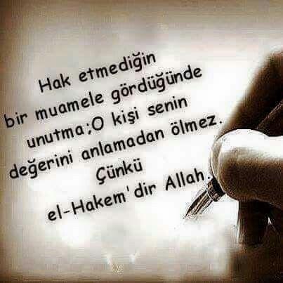 Allah el-Hakem'dir.
