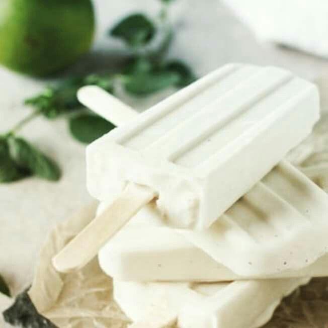 Coconut mojito icecream.... summertime yum!