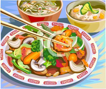 iCLIPART - An illustration of Chinese food. If you love spicy food don't order it spicy in China I learned the hard way their spicy is WAY spicy like all chilies.