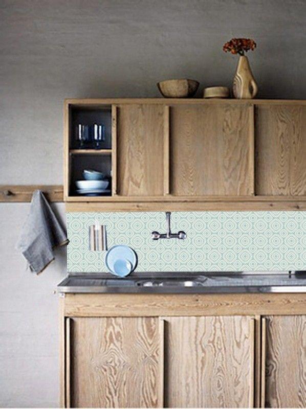 Keukenwand behangen Kitchen Walls retro zachtgroen http://www.funky-friday.com/wanddecoratie/behang/kitchen-walls-behang/kitchen-walls-behang-retro-zachtgroen.html