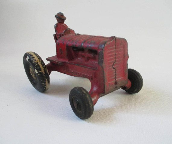 Arcade Allis Chalmers Toy Tractor Vintage Antique by HobbitHouse
