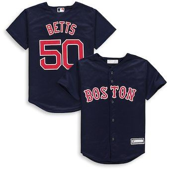 f26fc0fa627 Mookie Betts Boston Red Sox Majestic Youth Alternate Cool Base Replica  Player Jersey – Navy