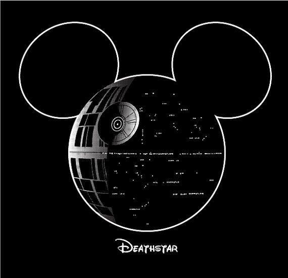 Death Star Mickey Star Wars Disney Shirt : S by WideAwakeStudio