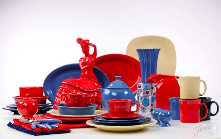 Red, White and Blue, all American Fiesta® Dinnerware.