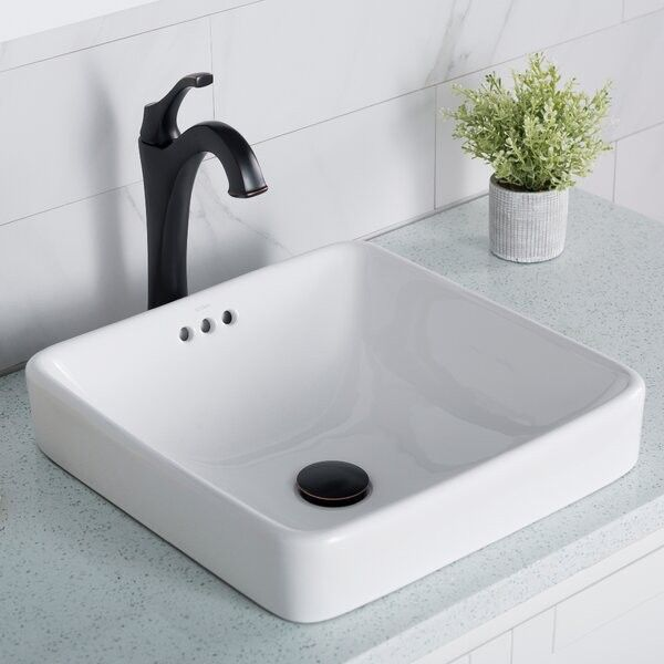 Kcr 281 Elavo Square Drop In Bathroom Sink With Overflow In 2020