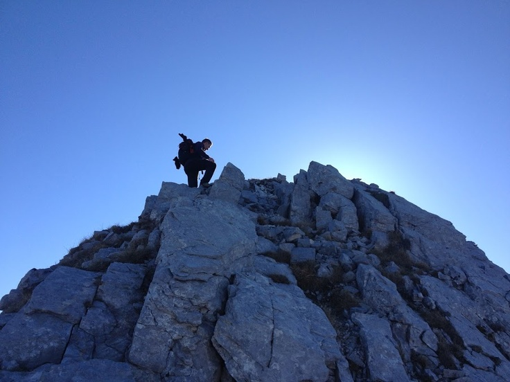 Trekking: at the top
