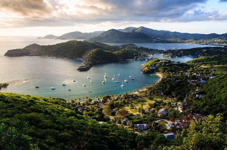 English Harbor - View overlooking English Harbor, Antigua & Barbuda Falmouth bay, Barbuda, Caribbean Photo by Marko Korkeakoski
