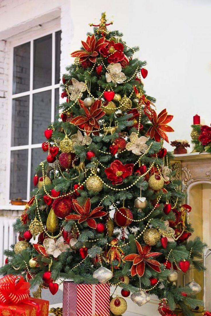 M s de 25 ideas nicas sobre rbol de navidad dorado en - Arbol navidad adornos ...