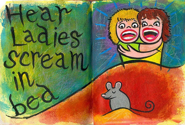 Hear ladies scream in bed by pageofbats, via FlickrLady Scream, Hearing Lady
