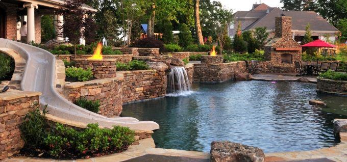 Great Backyard Pools :  Ideas, Water Sliding, Nature Pools, Dreams Pools, Pools Design