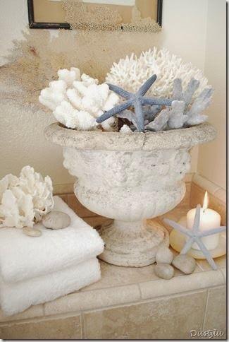 Seashells Urn and Candles